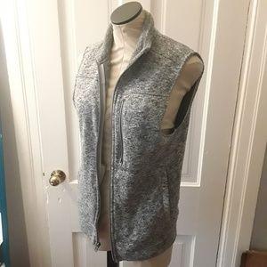 Merona light gray marled fleece vest